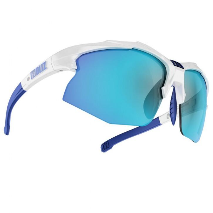 Bliz Hybrid white with blue multi